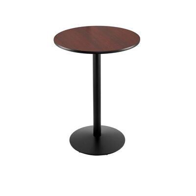 42 Pub Table Finish: Black, Tabletop Size: 24 Dia
