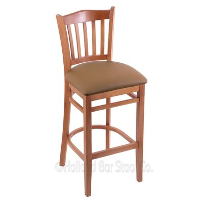 30 Bar Stool Finish: Medium, Upholstery: Allante Beechwood