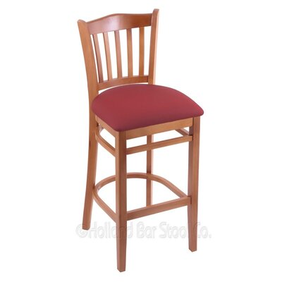 30 Bar Stool Finish: Medium, Upholstery: Allante Wine