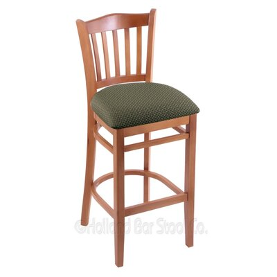 30 Bar Stool Finish: Medium, Upholstery: Axis Grove