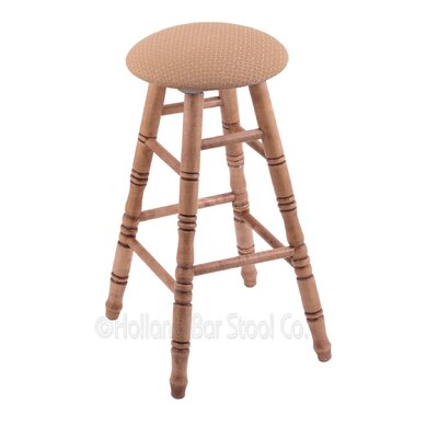36 Swivel Bar Stool Finish: Medium Maple, Upholstery: Axis Summer