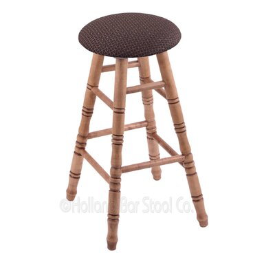24 Swivel Bar Stool Finish: Medium Maple, Upholstery: Axis Truffle