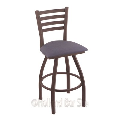 Jackie 30 Swivel Bar Stool Finish: Bronze, Upholstery: Rein Bay