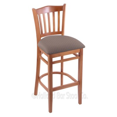 30 Bar Stool Finish: Medium, Upholstery: Axis Truffle