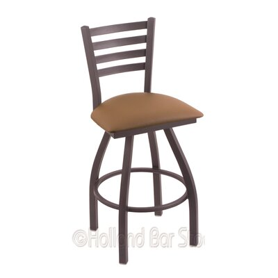Jackie 25 Swivel Bar Stool Finish: Pewter, Upholstery: Allante Beechwood