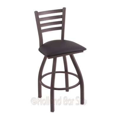 Jackie 36 Swivel Bar Stool Finish: Pewter, Upholstery: Allante Dark Blue