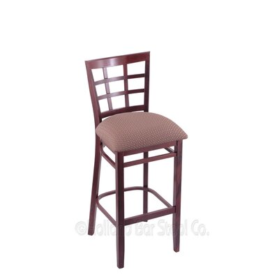 30 Bar Stool Finish: Dark Cherry, Upholstery: Axis Willow