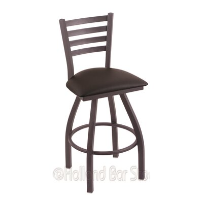 Jackie 30 Swivel Bar Stool Finish: Pewter, Upholstery: Allante Espresso