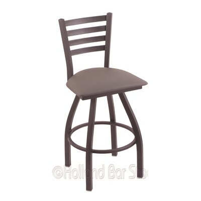 Jackie 30 Swivel Bar Stool Finish: Pewter, Upholstery: Allante Medium Grey