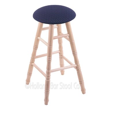 30 Swivel Bar Stool Finish: Natural Maple, Upholstery: Axis Denim