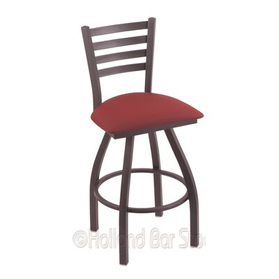 Jackie 36 Swivel Bar Stool Finish: Pewter, Upholstery: Allante Wine