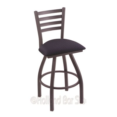 Jackie 36 Swivel Bar Stool Finish: Pewter, Upholstery: Axis Denim