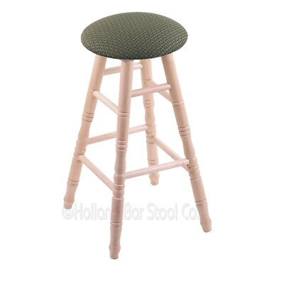 24 Swivel Bar Stool Upholstery: Axis Grove, Finish: Natural Maple