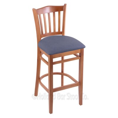 30 Bar Stool Finish: Medium, Upholstery: Rein Bay