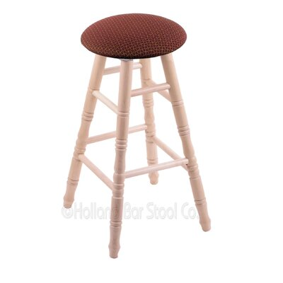 36 inch Swivel Bar Stool Upholstery: Axis Paprika, Finish: Natural Maple