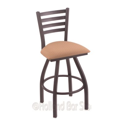 Jackie 25 Swivel Bar Stool Finish: Pewter, Upholstery: Axis Summer