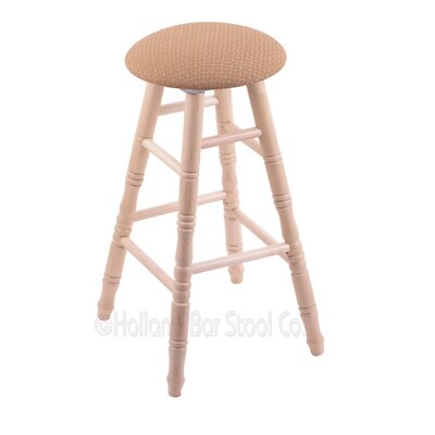 24 Swivel Bar Stool Upholstery: Axis Summer, Finish: Natural Maple