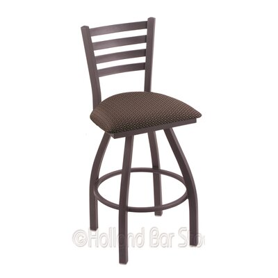 Jackie 30 Swivel Bar Stool Finish: Pewter, Upholstery: Axis Truffle