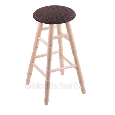 24 Swivel Bar Stool Upholstery: Axis Truffle, Finish: Natural Maple