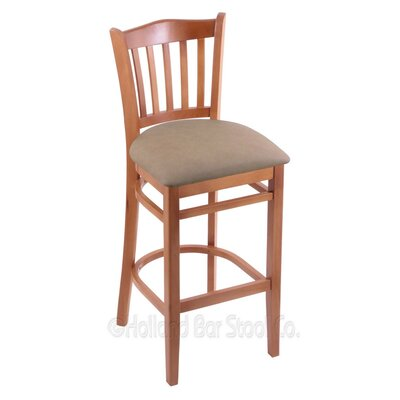 25 inch Bar Stool Finish: Medium, Upholstery: Allante Wine