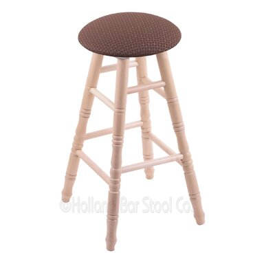 36 Swivel Bar Stool Finish: Natural Maple, Upholstery: Axis Willow