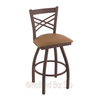 Catalina 25 Swivel Bar Stool Finish: Bronze, Upholstery: Allante Beechwood