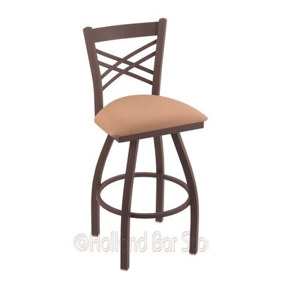 Catalina 25 Swivel Bar Stool Finish: Bronze, Upholstery: Axis Summer