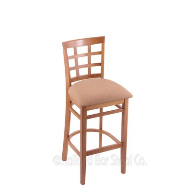 30 Bar Stool Upholstery: Axis Summer, Finish: Medium