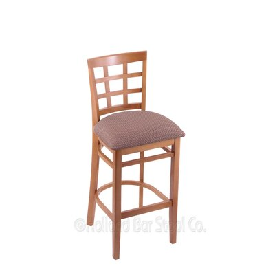 25 inch Bar Stool Upholstery: Axis Willow, Finish: Medium