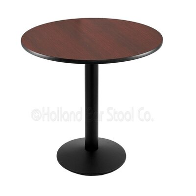 30 Pub Table Tabletop Size: 24 Dia, Finish: Black
