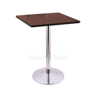 36 Pub Table Finish: Chrome, Tabletop Size: 30 x 30