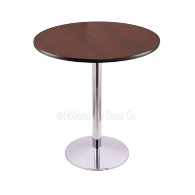 36 Pub Table Tabletop Size: 36 Dia, Finish: Chrome