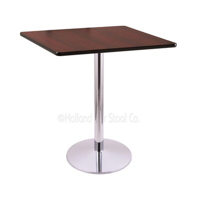 42 Pub Table Finish: Chrome, Tabletop Size: 36 x 36