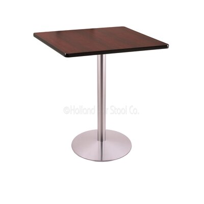36 Pub Table Finish: Stainless, Tabletop Size: 30 x 30