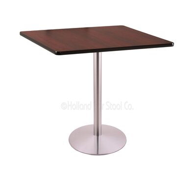 42 Pub Table Color: Stainless, Tabletop Size: 36 x 36