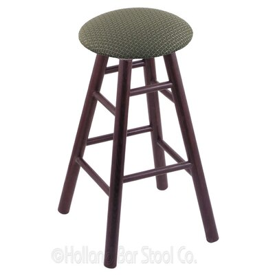 36 inch Swivel Bar Stool Finish: Dark Cherry Oak, Upholstery: Axis Grove