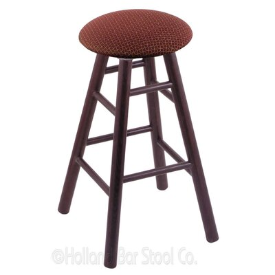 36 inch Swivel Bar Stool Finish: Dark Cherry Oak, Upholstery: Axis Paprika
