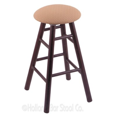 24 Swivel Bar Stool Finish: Dark Cherry Oak, Upholstery: Axis Summer