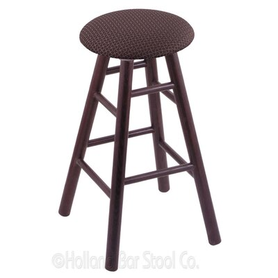 36 Swivel Bar Stool Finish: Dark Cherry Oak, Upholstery: Axis Truffle