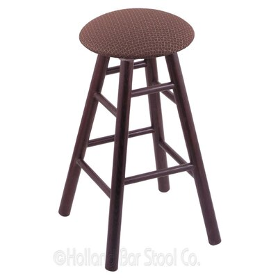 36 Swivel Bar Stool Finish: Dark Cherry Oak, Upholstery: Axis Willow