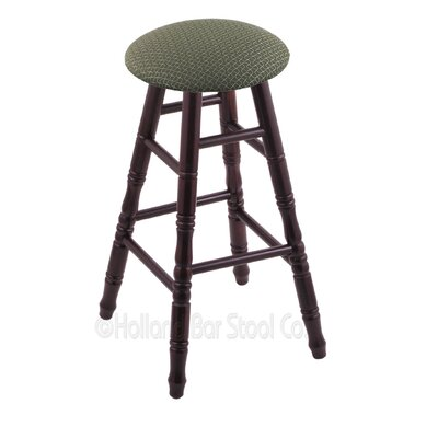 24 Swivel Bar Stool Finish: Dark Cherry Maple, Upholstery: Axis Grove