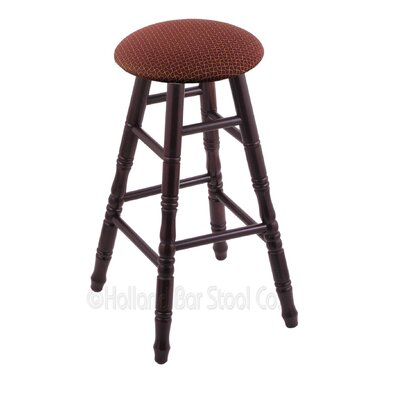 24 Swivel Bar Stool Finish: Dark Cherry Maple, Upholstery: Axis Paprika