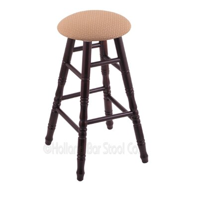 24 Swivel Bar Stool Finish: Dark Cherry Maple, Upholstery: Axis Summer