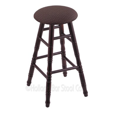 24 Swivel Bar Stool Finish: Dark Cherry Maple, Upholstery: Axis Truffle