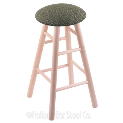 24 Swivel Bar Stool Finish: Natural Maple, Upholstery: Axis Grove