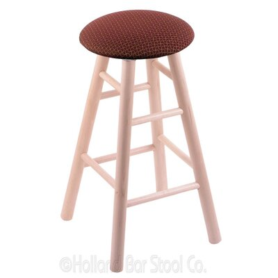 24 Swivel Bar Stool Finish: Natural Maple, Upholstery: Axis Paprika