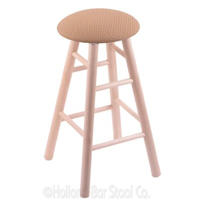 24 Swivel Bar Stool Finish: Natural Maple, Upholstery: Axis Summer