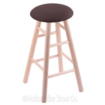 24 Swivel Bar Stool Finish: Natural Maple, Upholstery: Axis Truffle