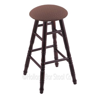 24 Swivel Bar Stool Finish: Dark Cherry Maple, Upholstery: Axis Willow
