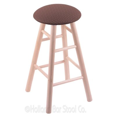 24 Swivel Bar Stool Finish: Natural Maple, Upholstery: Axis Willow